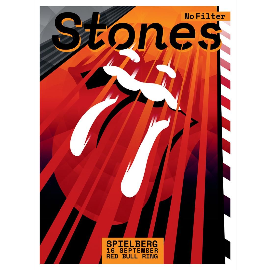 Art The Rolling Stones Spielberg Red Bull Ring Print