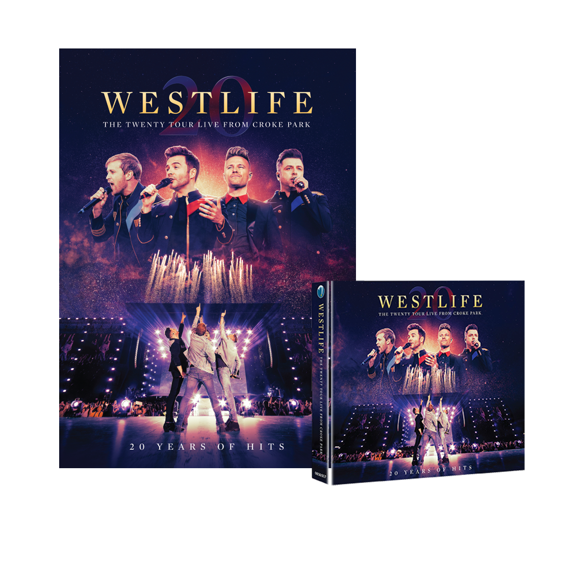 Westlife: THE TWENTY TOUR LIVE FROM CROKE PARK CD/DVD & Limited Edition Signed Print