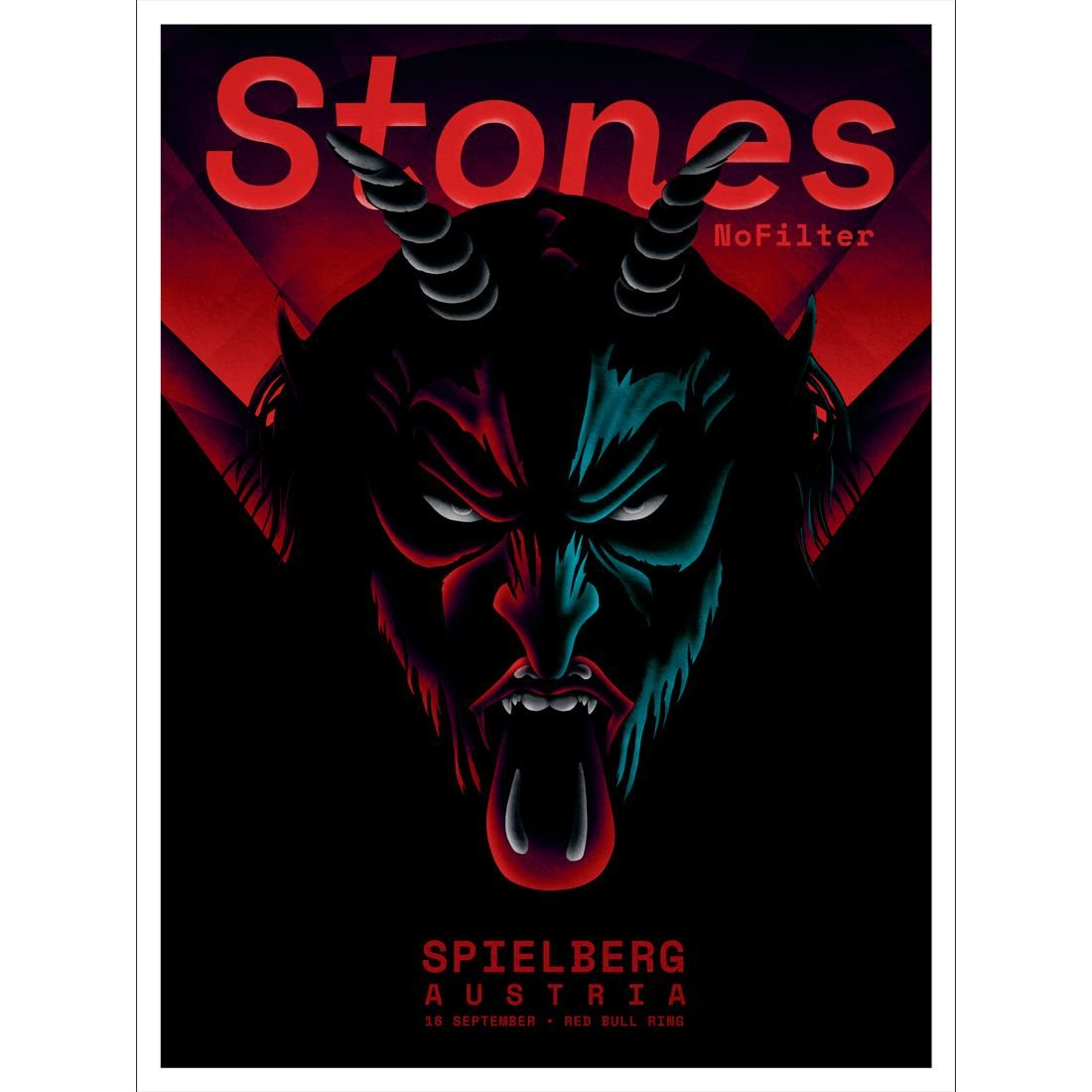 Art The Rolling Stones Spielberg Krampus Print