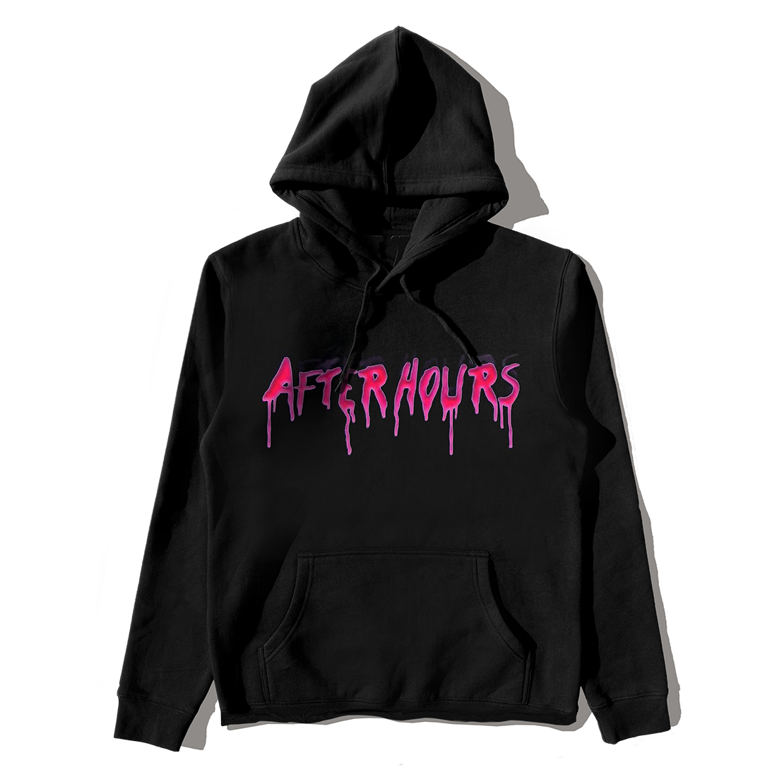 The Weeknd: VLONE AFTER HOURS ACID DRIP PULLOVER HOOD BLACK