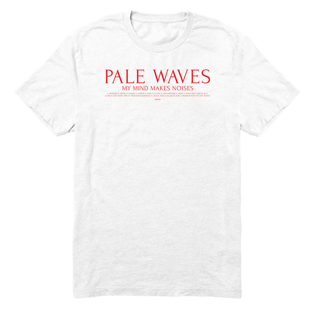 Pale Waves: Track List T-Shirt - L