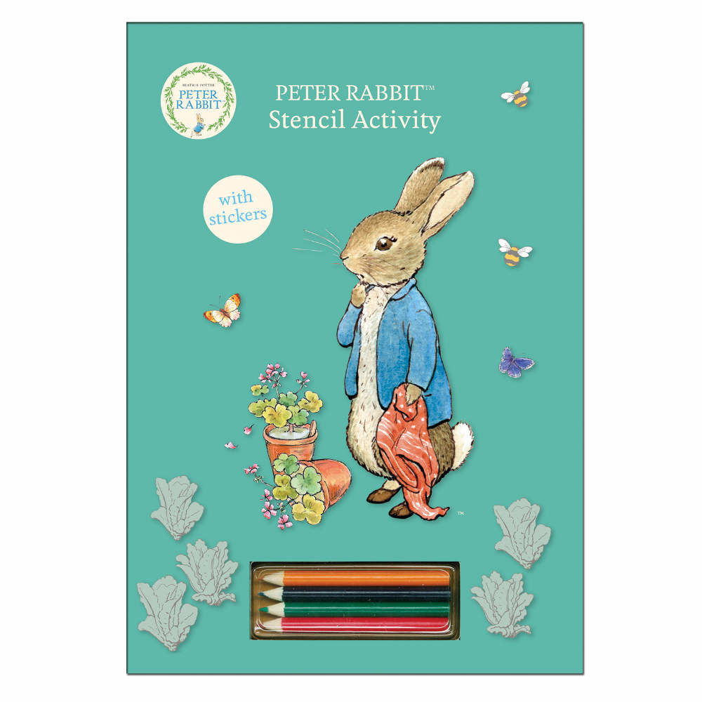 Peter Rabbit Peter Rabbit Blue Stencil Activity Book with Pencils