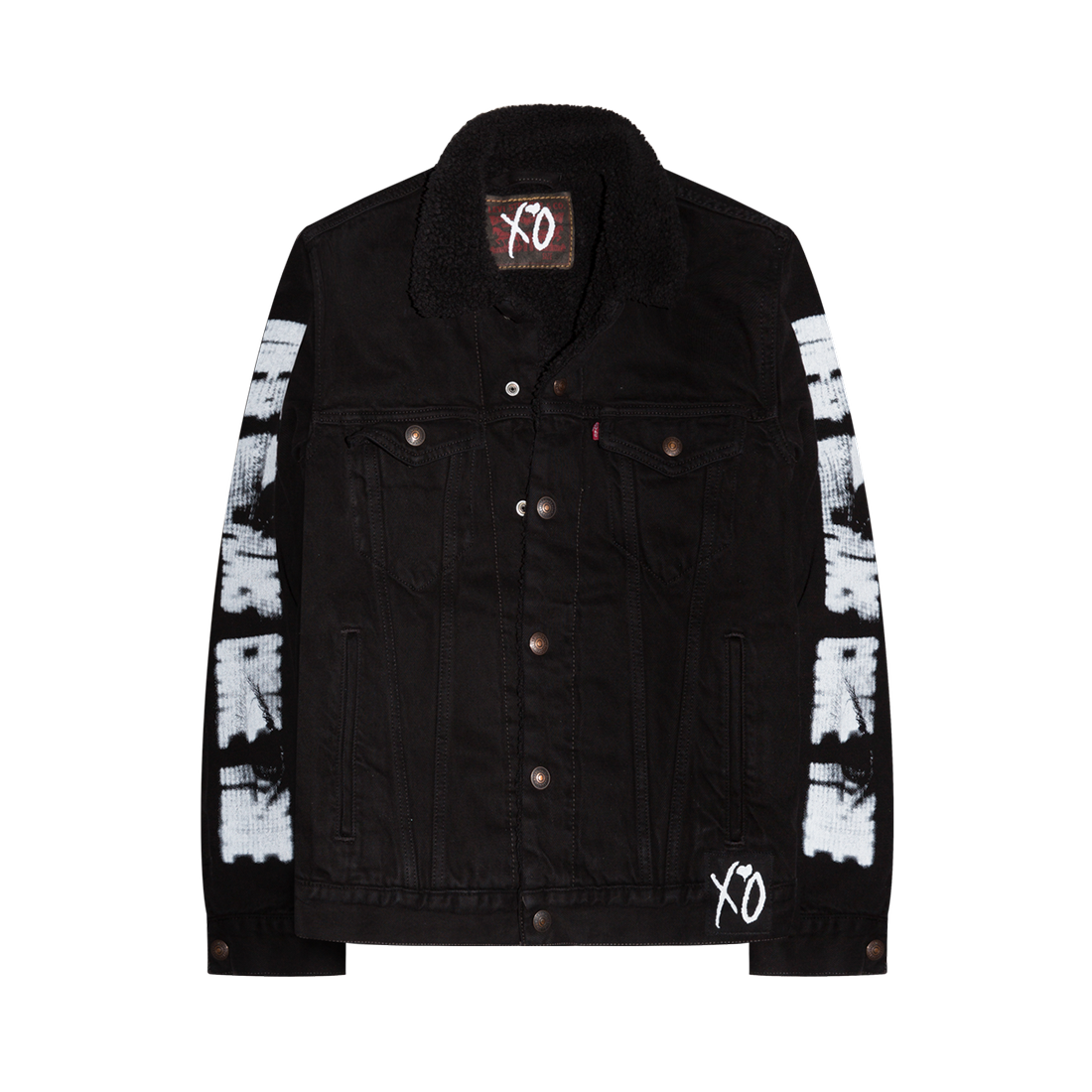 The Weeknd: XO VISIONS DENIM SHERPA JACKET - S