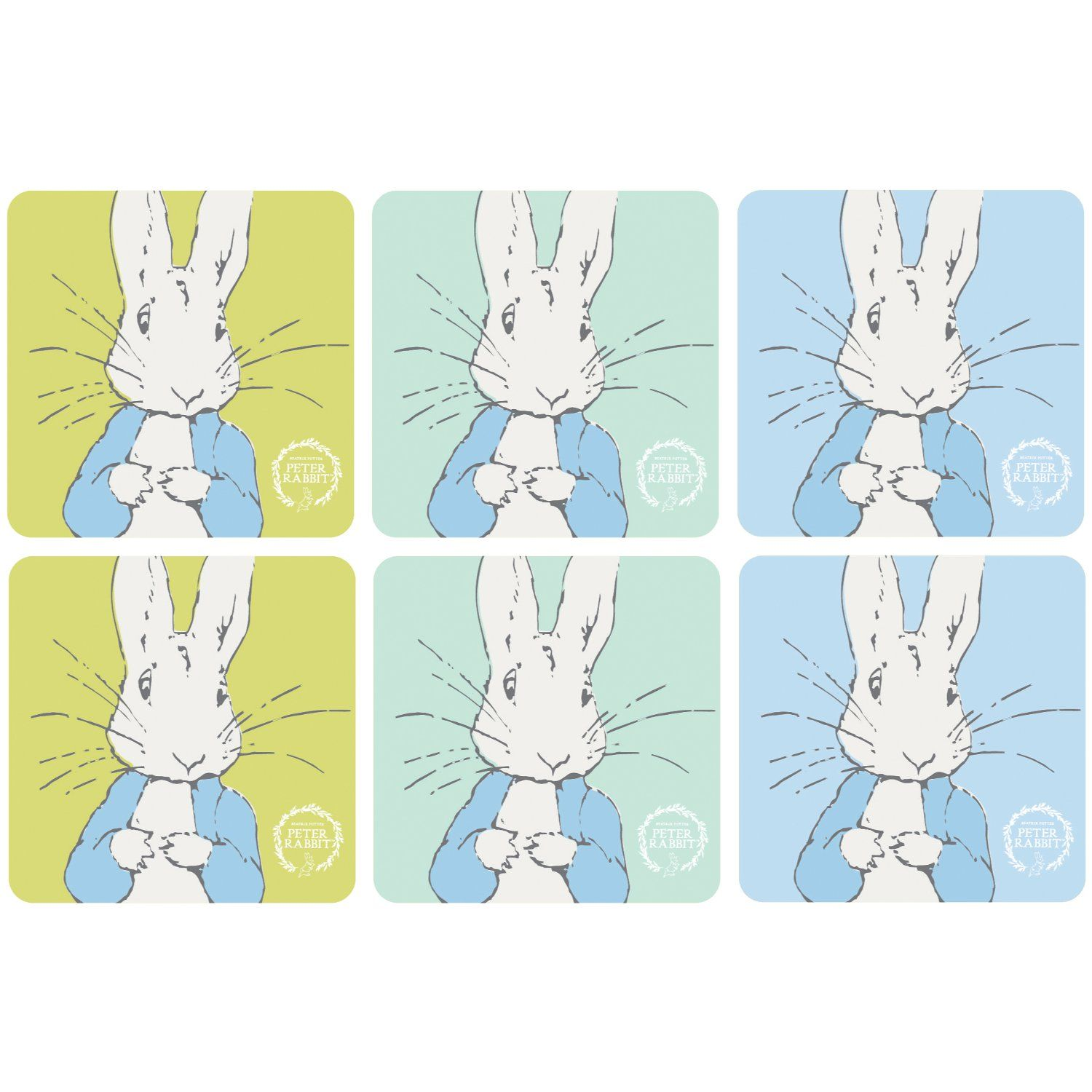 Peter Rabbit Peter Rabbit Contemporary Coasters (Set of 6)