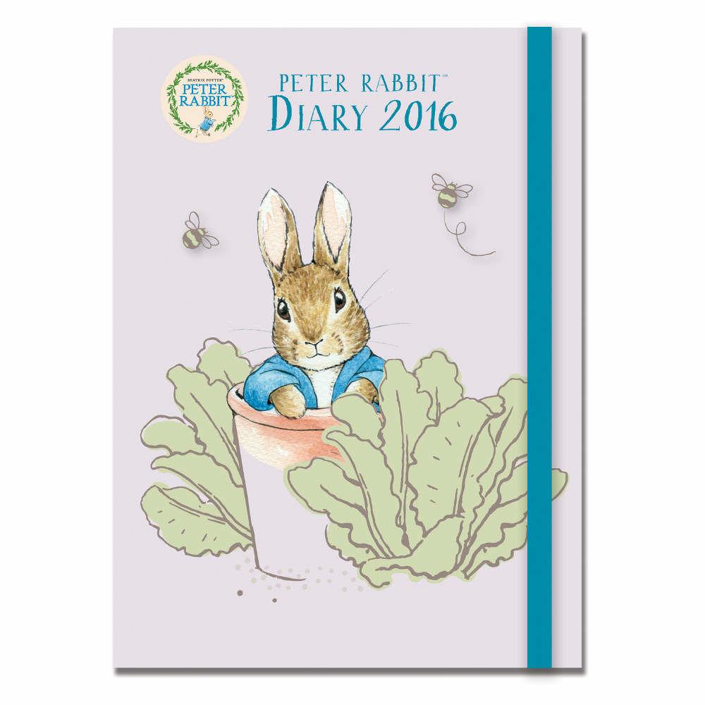 Pencils & Crayons Peter Rabbit Peter Rabbit 2016 A6 Diary