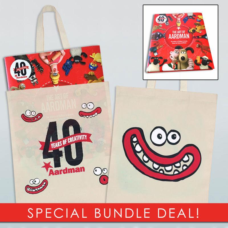 TV Series & Movies Aardman The Art Of Aardman Book and Tote Bag Bundle