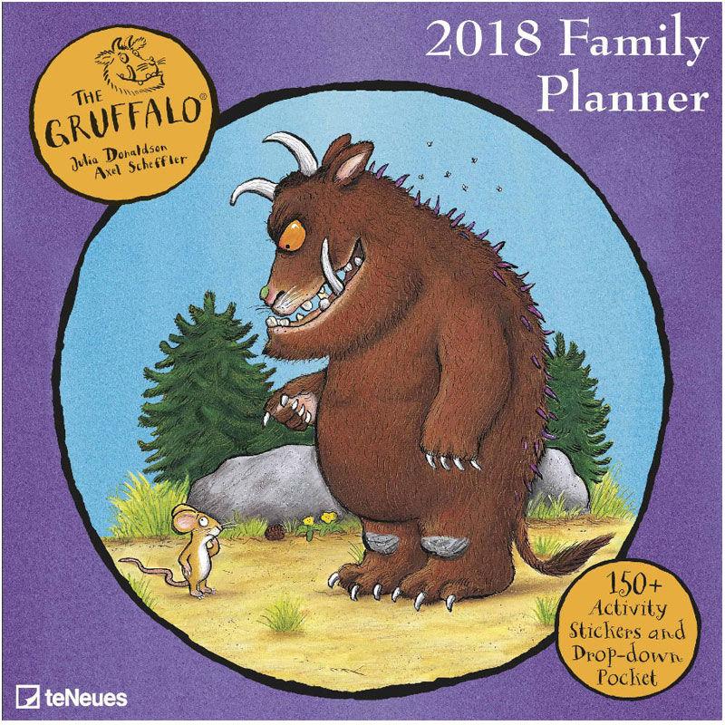 Calendars The Gruffalo 2018 Gruffalo Family Planner Calendar